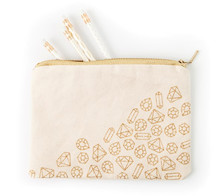 Scattered jewels zipper pouch